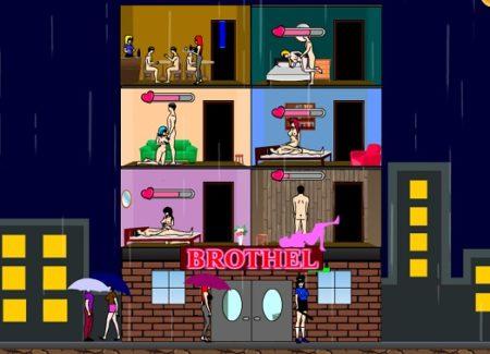 風俗ビルを建ててお金を稼いでいく放置系エロゲーム