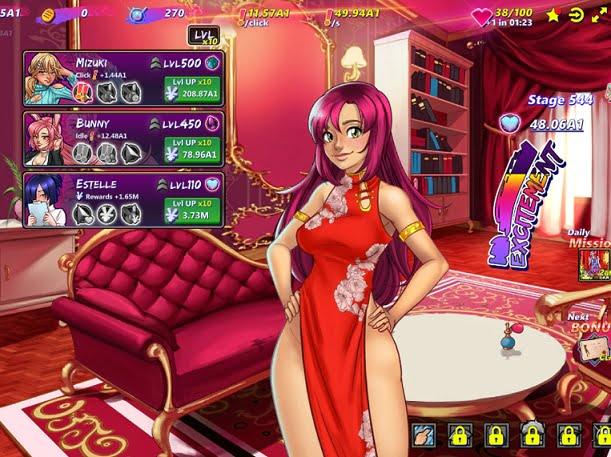 女の子をクリックして服を脱がしていく脱衣エロクリッカーゲーム「Hentai Clicker」