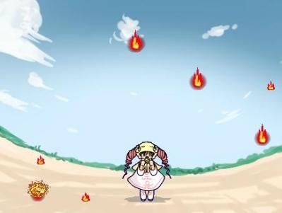 落ちてくる炎をひたすら避けるゲーム「炎魂」